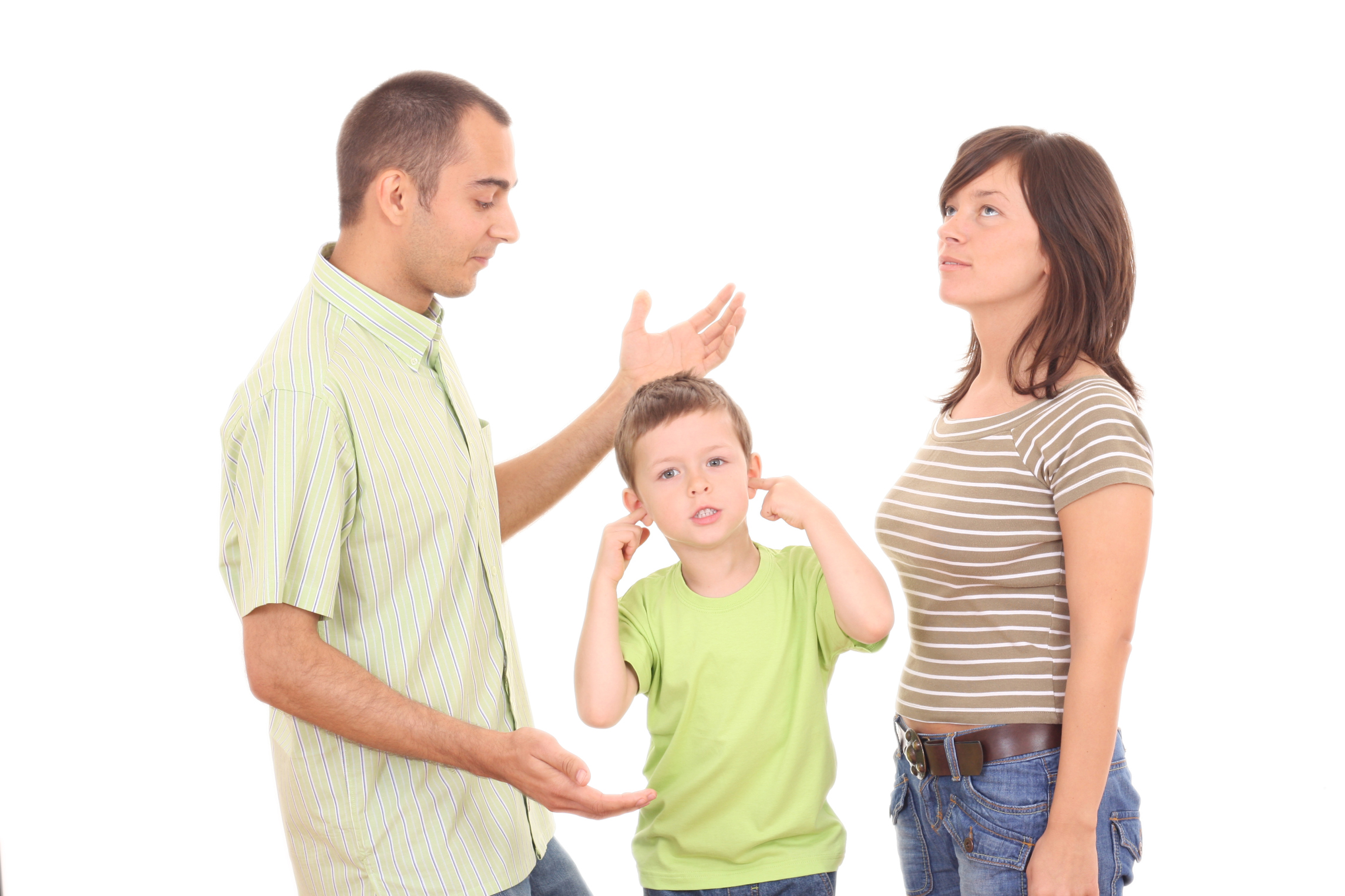 family arguing fighting